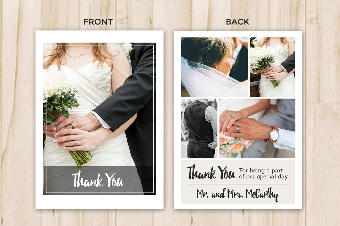 Wedding Thank You Card Template Wedding Thank You Card Template Flyer Templates