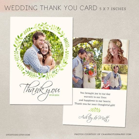 Wedding Thank You Card Template Wedding Thank You Card Template for Graphers Psd