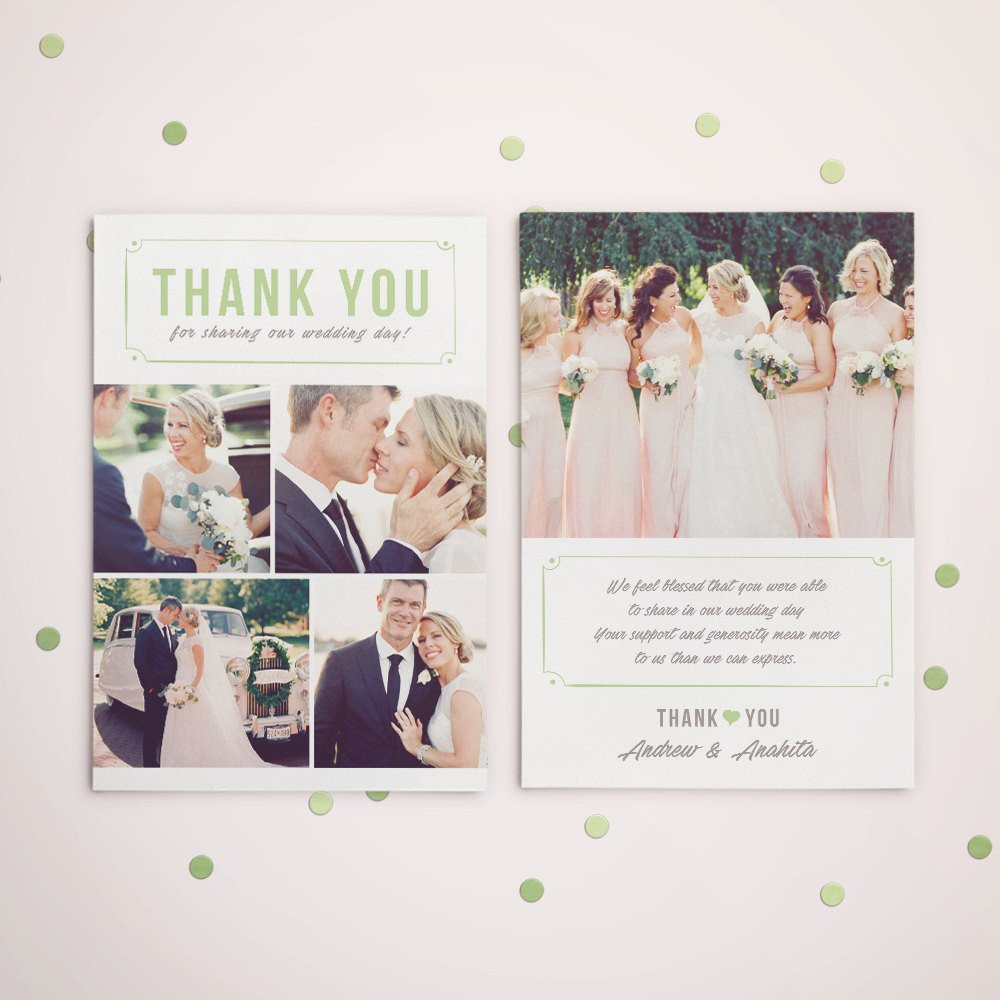 Wedding Thank You Card Template Wedding Thank You Card Template for Graphers Wedding
