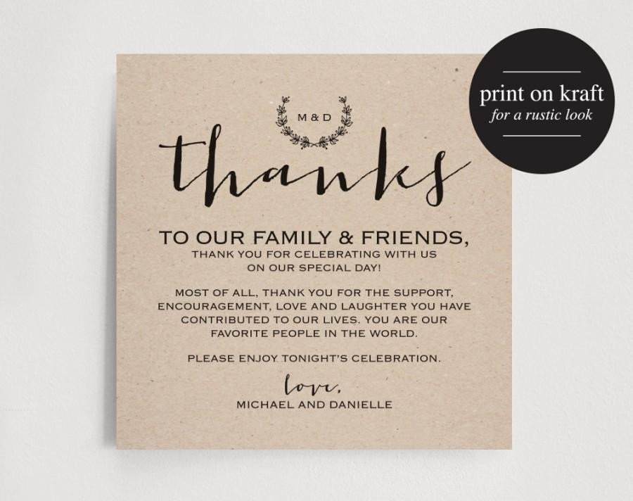 Wedding Thank You Card Template Wedding Thank You Card Template