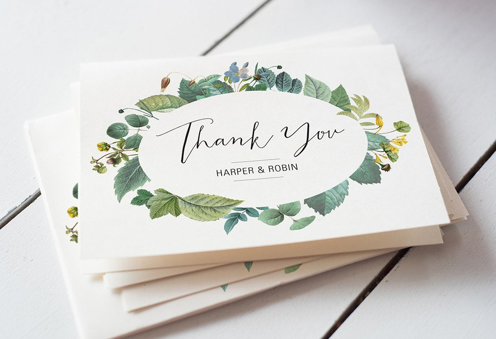 Wedding Thank You Card Template Wedding Thank You Card Wording 4 Super Easy Templates