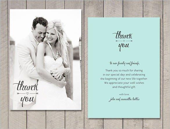 Wedding Thank You Cards Template 18 Wedding Thank You Cards Psd Ai Vector Eps