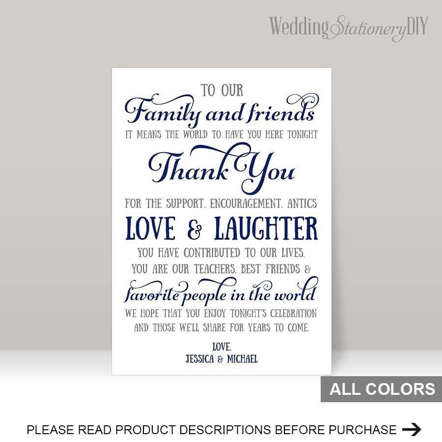 Wedding Thank You Cards Template Navy Wedding Reception Thank You Card Templates