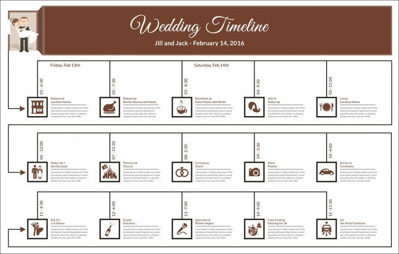 Wedding Timeline Template Free 29 Wedding Timeline Template Word Excel Pdf Psd