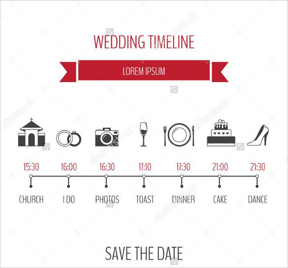Wedding Timeline Template Free 30 Wedding Timeline Templates Psd Ai Eps Pdf Word
