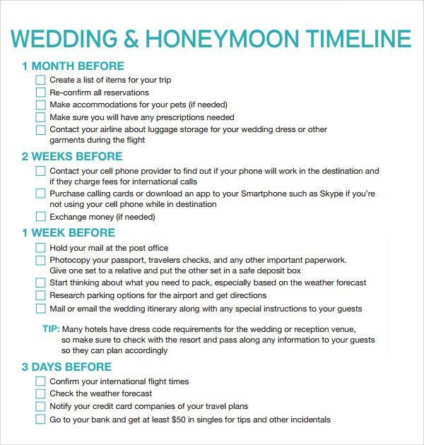 Wedding Timeline Template Free Wedding Timeline Template 5 Download Documents In Pdf