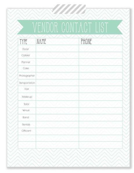 Wedding Vendor List Template the Woodlands Wedding Blog Wedding Planner Vendor Contact