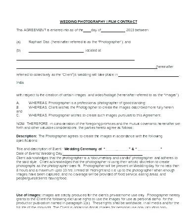 Wedding Videographer Contract Template Videographer Contract Template Uk – Ddmoon