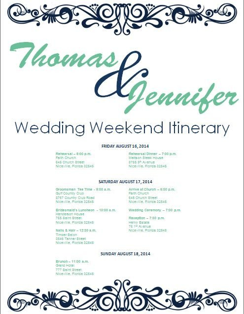 Wedding Weekend Itinerary Template 17 Best Ideas About Wedding Weekend Itinerary On Pinterest