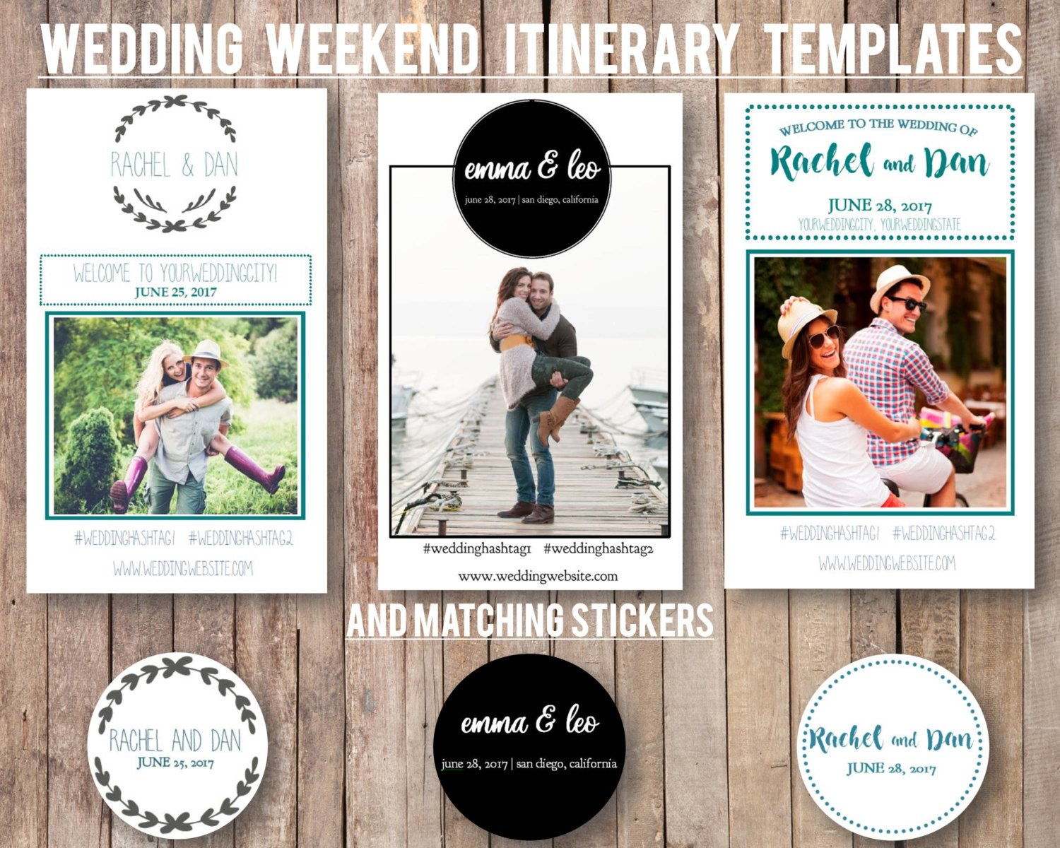Wedding Weekend Itinerary Template Wedding Weekend Diy Itinerary Schedule Template by