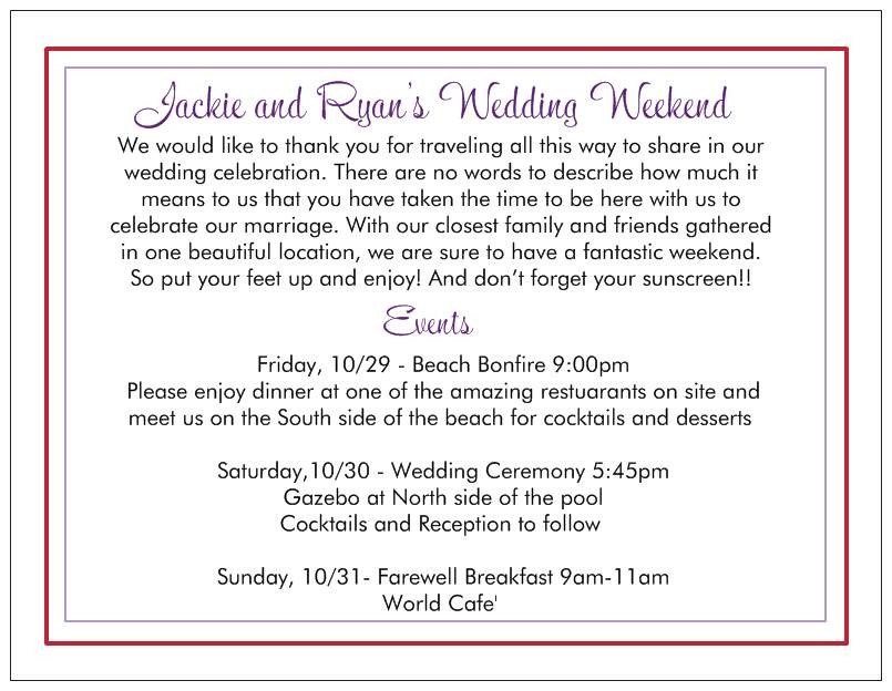 Wedding Welcome Letter Template Wedding Wel E Letter