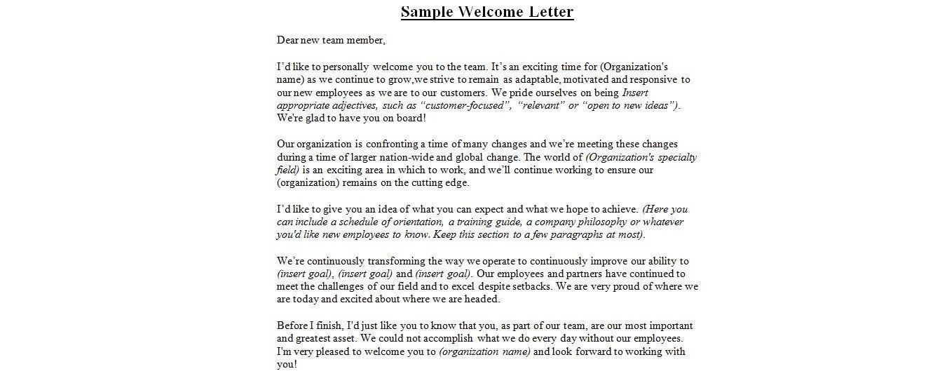 Wedding Welcome Letter Template Wedding Wel E Letter Sample