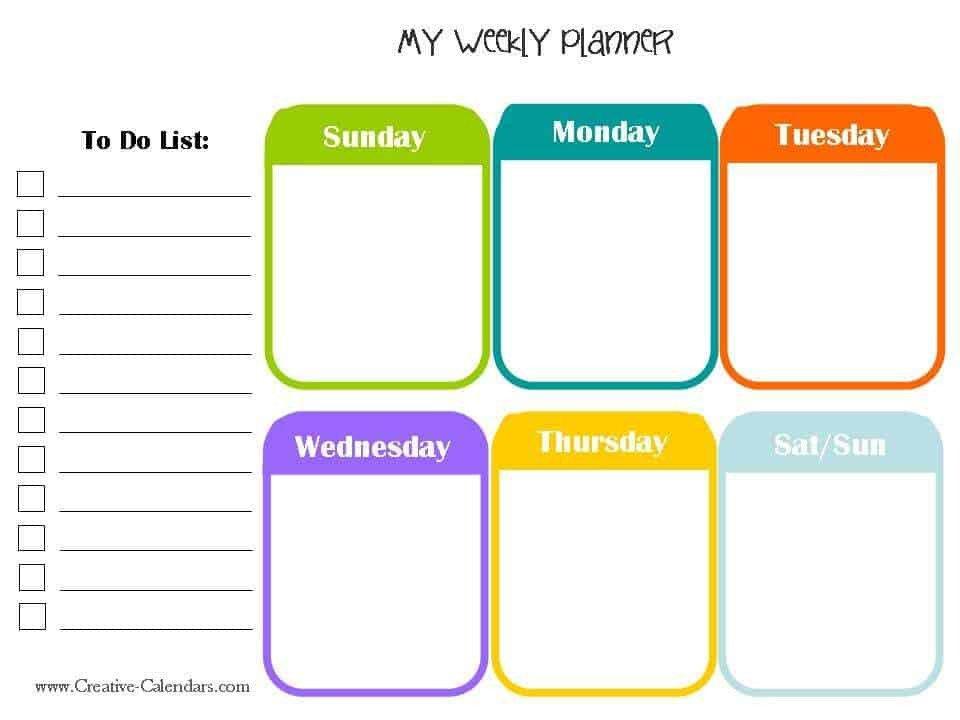 Week Planner Template Word 10 Weekly Planner Templates Word Excel Pdf formats