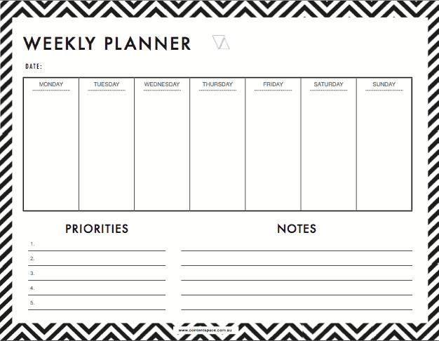 Week Planner Template Word 6 Weekly Planner Templates Word Excel Templates