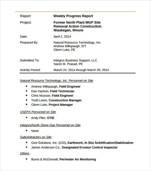 Weekly Activities Report Template 36 Weekly Activity Report Templates Pdf Doc
