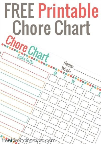Weekly Chore Chart Printable Best 25 Weekly Chore Charts Ideas On Pinterest