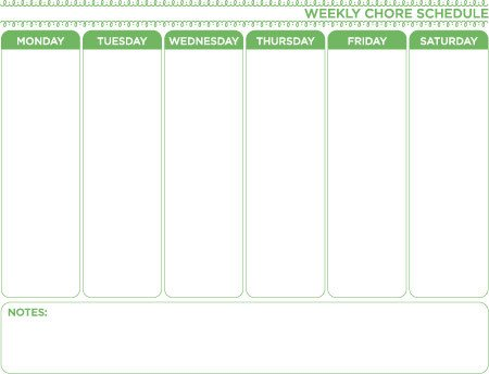 Weekly Chore Chart Templates Weekly Chore Chart Template Free Download Home