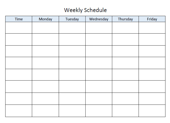 Weekly Class Schedule Template Step by Step Guide to Planning Your Homeschool Year Tj