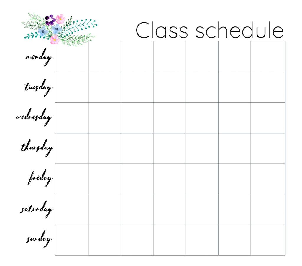 Weekly Class Schedule Template Weekly Lesson Plan Deekit Free Template