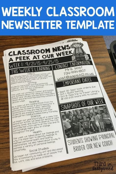 Weekly Classroom Newsletter Template 17 Best Ideas About Weekly Newsletter Template On