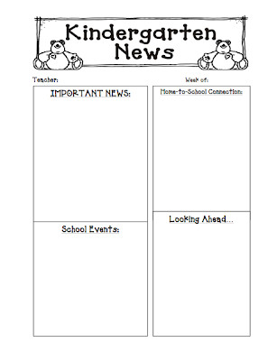 Weekly Classroom Newsletter Template Kinders First Freebie Newsletter Template