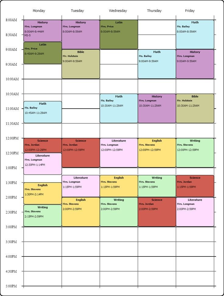 Weekly College Schedule Template Line Weekly Class Scheduling Template I Used the Free