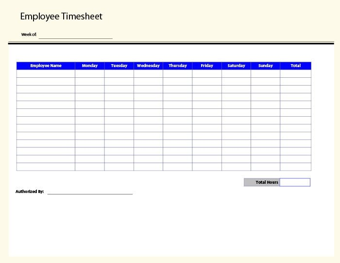 Weekly Employee Timesheet Template 60 Sample Timesheet Templates Pdf Doc Excel