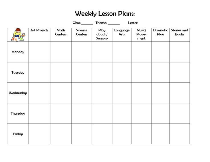 Weekly Lesson Plan Template Doc 39 Best Images About Lesson Plan forms On Pinterest