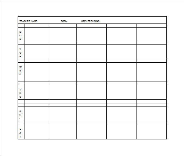Weekly Lesson Plan Template Elementary Lesson Plan Template 11 Free Word Excel