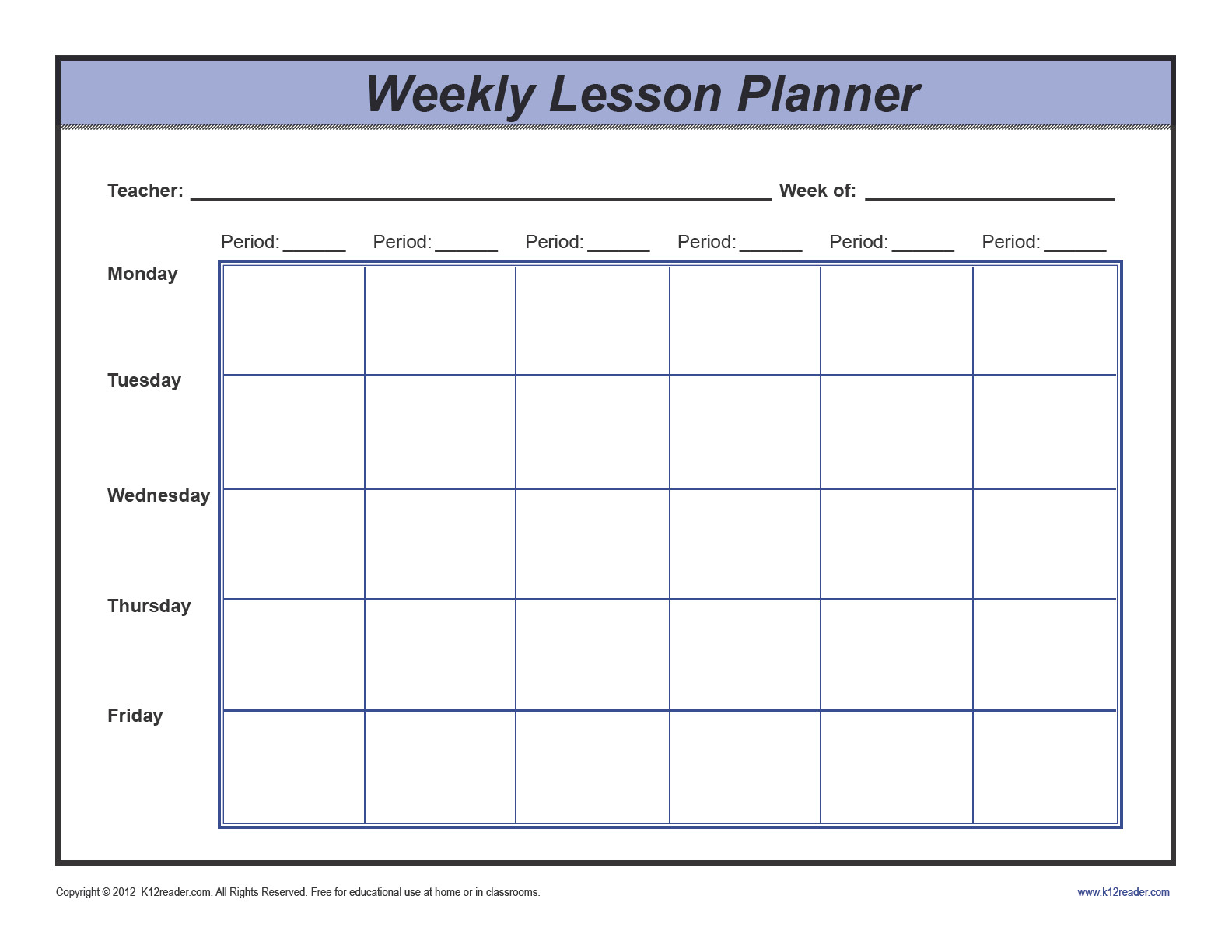 Weekly Lesson Plan Template Pdf Download Weekly Lesson Plan Template Preschool