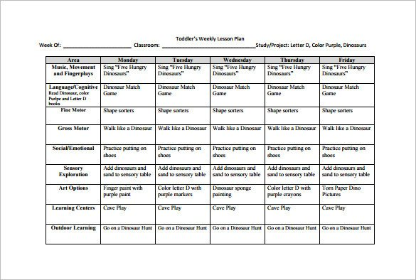 Weekly Lesson Plan Template Pdf Weekly Lesson Plan Template 9 Free Word Excel Pdf