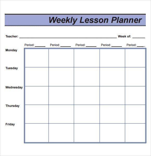 Weekly Lesson Plan Template Sample Lesson Plan 9 Documents In Pdf Word