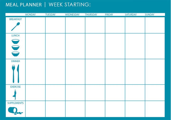 Weekly Meal Planner Template Excel Monthly Weekly Meal Planner Template Microsoft Excel