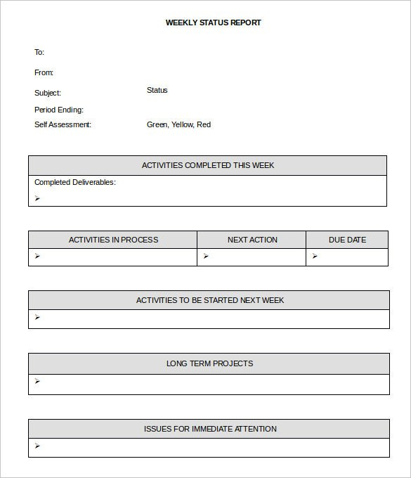 Weekly Progress Report Templates 36 Weekly Activity Report Templates Pdf Doc