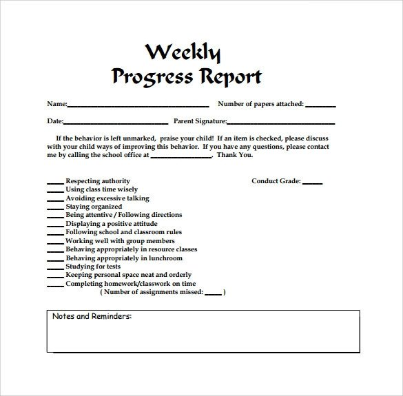 Weekly Progress Report Templates Free 25 Sample Weekly Report Templates In Docs