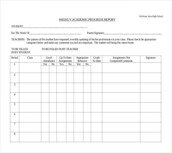 Weekly Progress Report Templates Progress Report Template 29 Free Word Pdf Google Docs