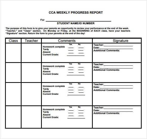 Weekly Progress Report Templates Sample Weekly Progress Report 13 Documents In Pdf Word