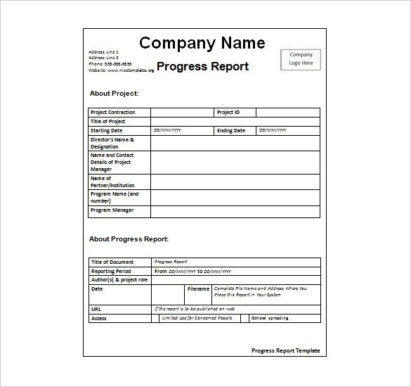 Weekly Progress Report Templates Status Report Template 27 Examples You Can Download Free