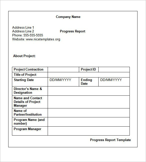 Weekly Progress Report Templates Weekly Status Report Templates 30 Free Documents