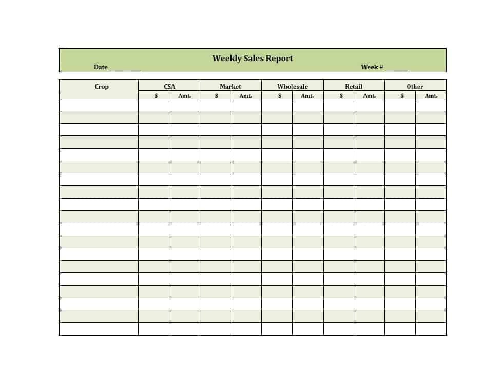 Weekly Sales Reports Templates 45 Sales Report Templates [daily Weekly Monthly Salesman
