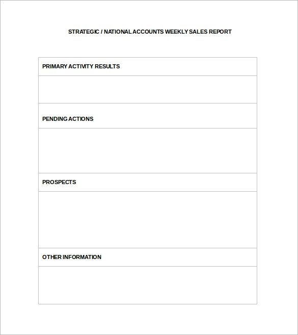 Weekly Sales Reports Templates Sample Sales Report Template 17 Free Documents Download