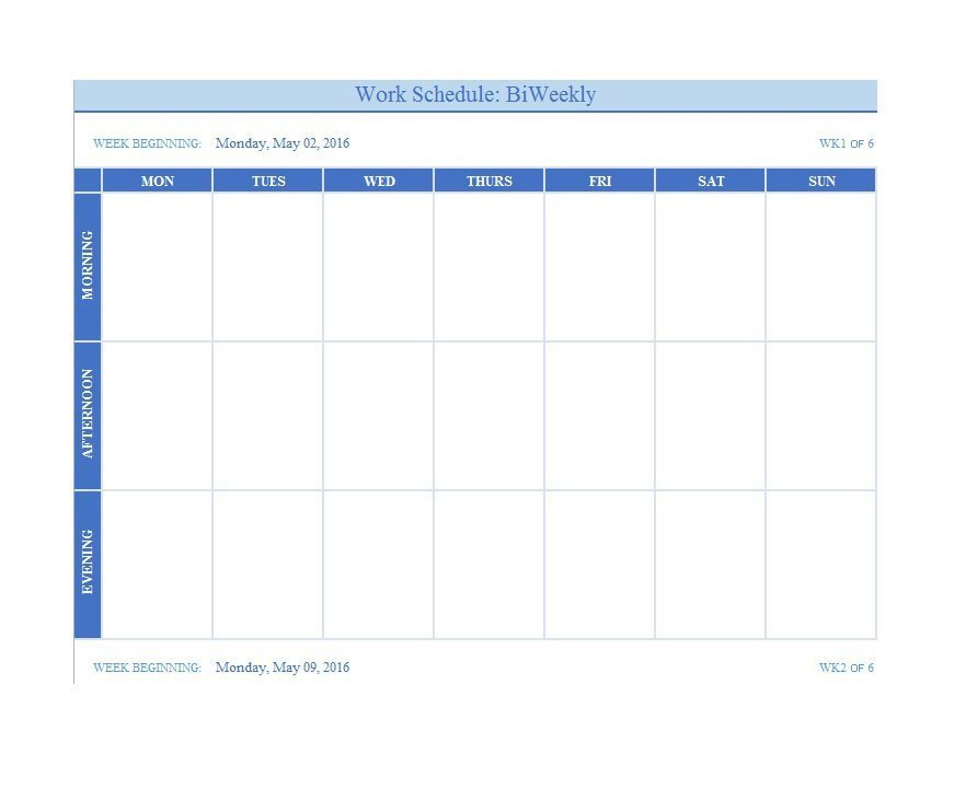 Weekly Time Schedule Template 26 Blank Weekly Calendar Templates [pdf Excel Word]