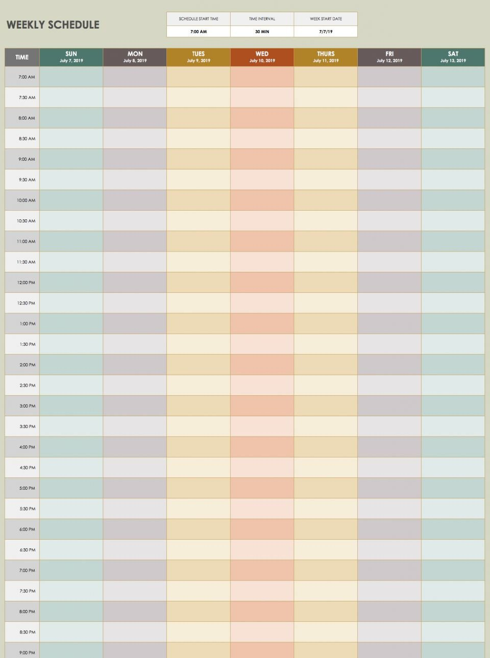 Weekly Time Schedule Template 28 Free Time Management Worksheets