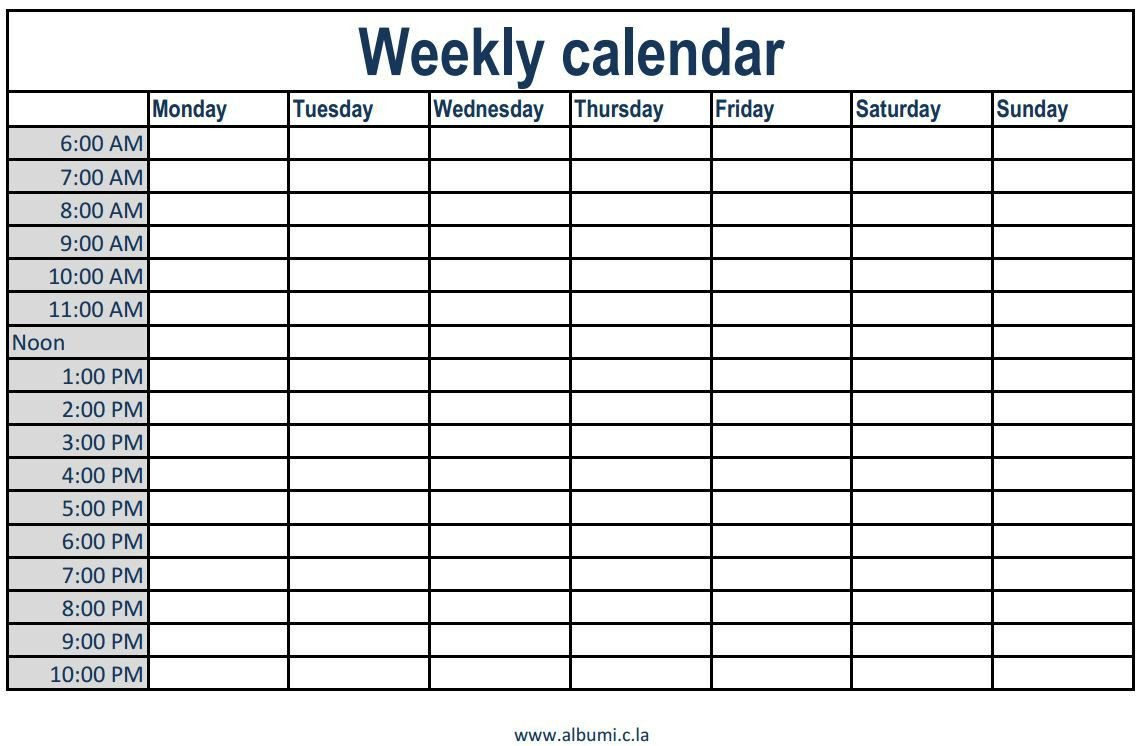 Weekly Time Schedule Template Pin by Trina On Photos