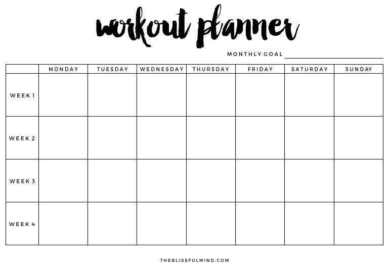 Weekly Workout Schedule Template How to Actually Achieve Your Fitness Goals