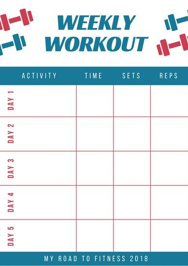 Weekly Workout Schedule Template Weekly Schedule Planner Templates Canva