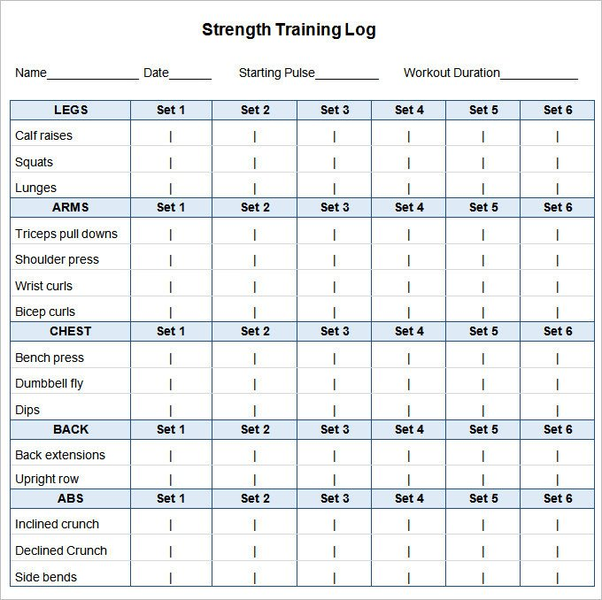 Weekly Workout Schedule Template Workout Plan Template Word