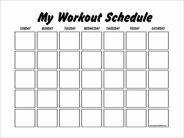 Weekly Workout Schedule Template Workout Schedule Template 10 Free Word Excel Pdf