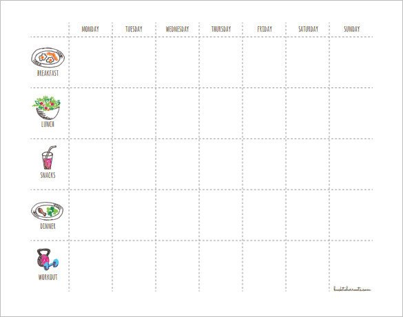 Weekly Workout Schedule Template Workout Schedule Template 8 Free Sample Example format