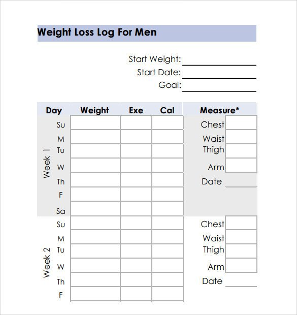 Weight Loss Chart Template Weight Loss Chart 9 Download Free Documents In Pdf